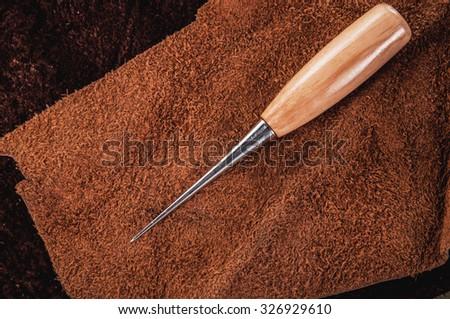 Leather Craft Tools Make Hole Enlarge Stock Photo Edit Now