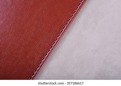 Leather diary background texture