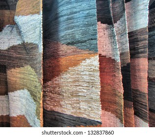 Leather hand-made rugs. Shot in Drakensberg Mountains, South Africa.