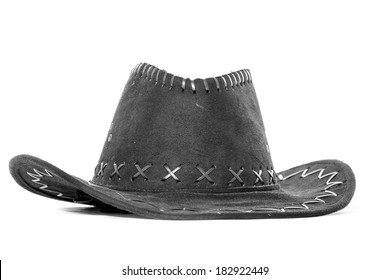 a leather hat isolated isolated on white background