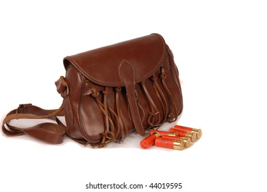 Leather hunting bag with bullets
