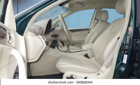 Classic Car Interior Front Seat And Door Images Stock Photos