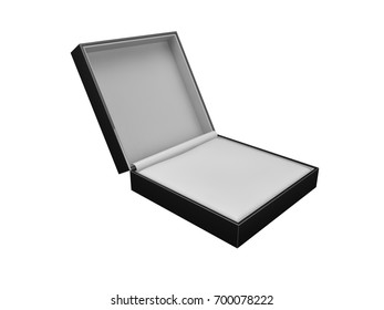 Leather Jewelry Box 3d rendering