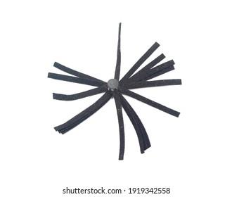 leather keychain pendant tassel on white background