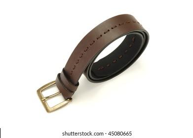 leather man belt isolated at white background