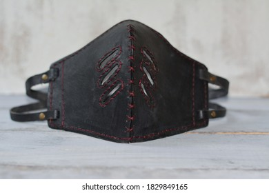 leather mask against coronavirus COVID-19