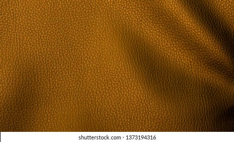 Leather material, golden texture, close up