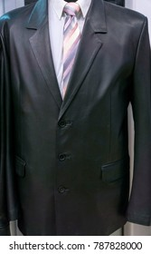 Leather men's jacket