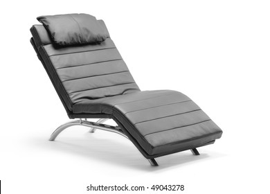 A leather modern chair isolated on white background