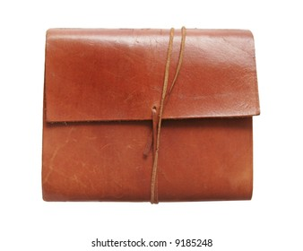 A leather notebook