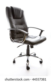 Leather office swivel chair.