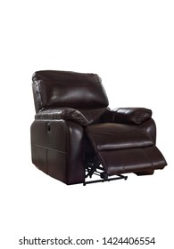 The leather recliner chair for living room