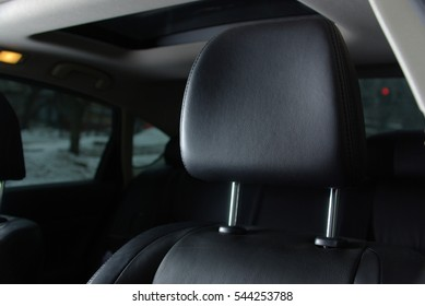 Leather seat in a car