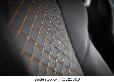 Leather seats of supercar