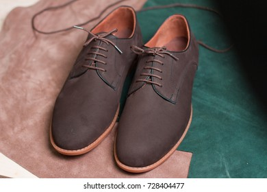 Leather shoes as a background -including clipping path