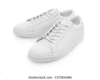 Leather shoes on white