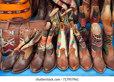 Leather shoes,Morocco.