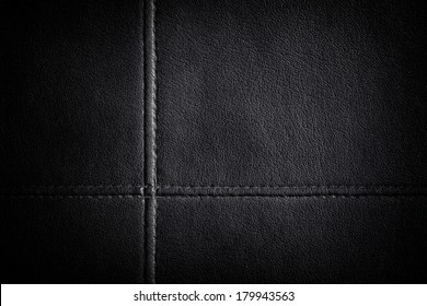 Leather stitched texture background