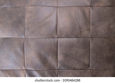Leather texture and stitch