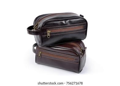 Leather Toilet Travel bag