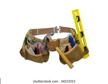Leather tool belt for carrying items conveniently while working - path included