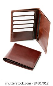 Leather wallet with cards
