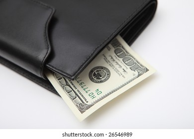 leather wallet cash