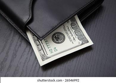 leather wallet cash