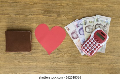 Leather Wallet loves money's plan and bills