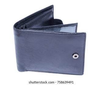 Leather wallets on a white background