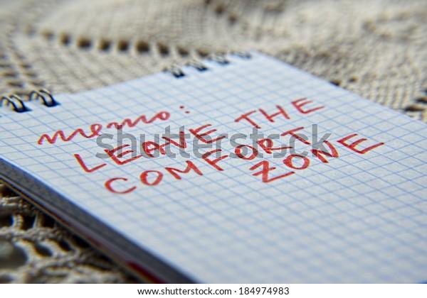 leave the comfort zone memo
