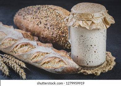 The leaven for bread is active. Starter