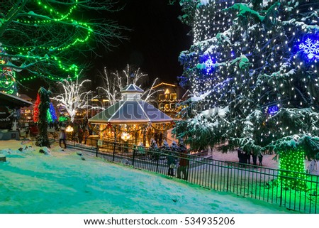 leavenworth wa december 10th 2016 christmas lights festival in the washington state bavarian