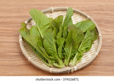 Leaves of Chinese cabbage