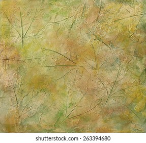Leaves stucco texture background