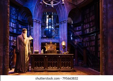 LEAVESDEN, LONDON - NOVEMBER 11, 2017 - At Dumbledore's room, The Making of Harry Potter, WB Studio