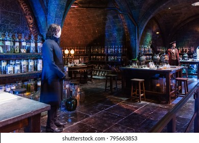 LEAVESDEN, LONDON - NOVEMBER 11, 2017 - At Snape's potion room, The Making of Harry Potter, WB Studio