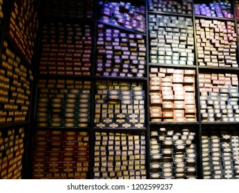 LEAVESDEN, LONDON, UK - DECEMBER 17th 2017: the Ollivanders magic wand shop at the Warner Brothers Studio tour 'The making of Harry Potter' from Harry Potter film.