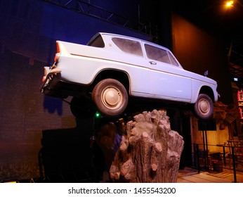 Leavesden, London, UK - DECEMBER 17th 2017: The car coaster in the Warner Brothers Studio tour 'The making of Harry Potter' from Harry Potter film.