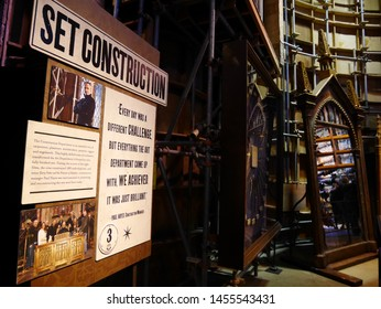 Leavesden, London, UK - DECEMBER 17th 2017: The set construction in the Warner Brothers Studio tour 'The making of Harry Potter' from Harry Potter film.
