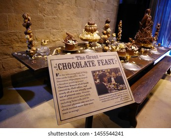 Leavesden, London, UK - DECEMBER 17th 2017: The decoration in the Warner Brothers Studio tour 'The making of Harry Potter' from Harry Potter film. Its decoration for Christmas.