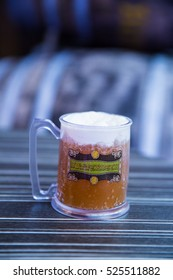 Leavesden UK - 26 Oct 2015: Tasting the Butterbeer at The Making of Harry Potter, WB Studio