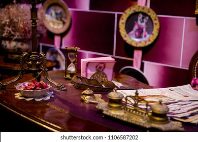 LEAVESDEN, UK - January 23rd 2017; Office of Dolores Umbridge at the Making of Harry Potter Studio.
