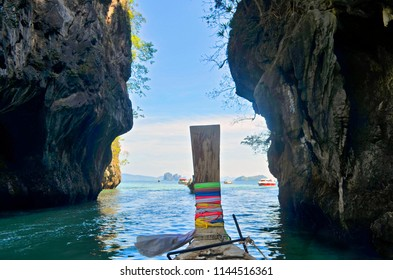 Leaving the lagoon of Koh Hong in the Andaman Sea, Krabi province, Thailand