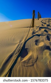 Leba in Poland - The Slowinski National Park, A Desert by the Baltic Sea. Incredible Place on Earth with the Largest Stretch of Moving Sand Dunes in Europe Pictures Taken in a Very Hot Day.