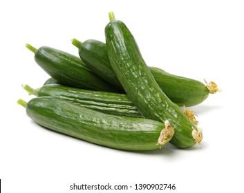 Lebanese Cucumber isolated on white background