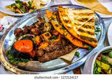 Lebanese Grilled Chicken Lamb Beef Covered with Bread