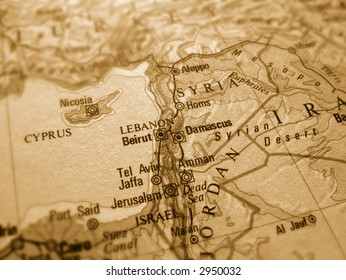 Israel Map Old Images, Stock Photos & Vectors | Shutterstock
