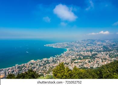 Lebanon Coast View From Harissa