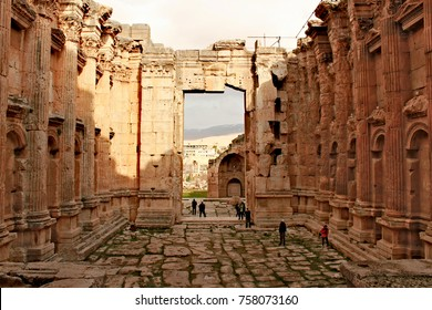 Lebanon, February 14th, 2011 - Baalbek - ruins of the Bacchus Temple in the ancient Phoenician city; known as Heliopolis during the Hellenistic period